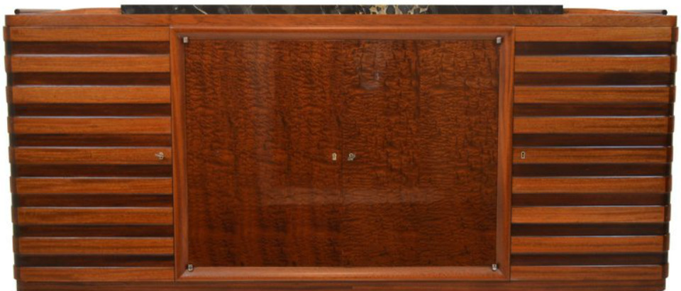 Gaston Poisson Art Deco Sideboard in Two-Tone Mahogany gallery.jpg