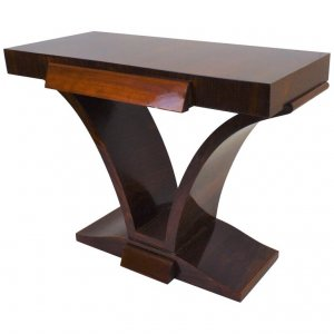 Dark Stained Art Deco Console