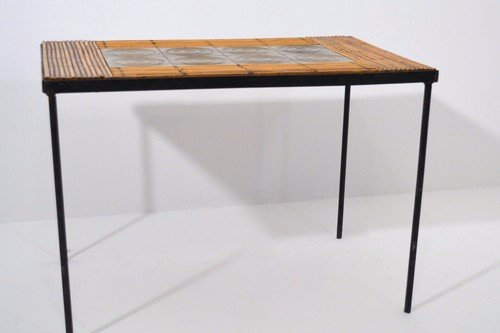 2013-045 Bijzettafeltje (8) - Vintage French Coffee Table, 1950s