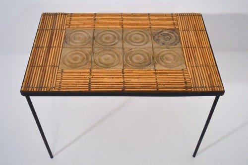 3 Vintage Bijzettafeltjes.Vintage French Coffee Table 1950s